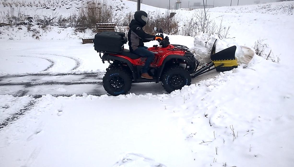 Finman V-Aura lumitöissä, video 3