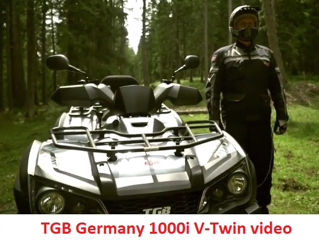 Saksan TGB Maahantuojan 1000i V-Twin ajovideo